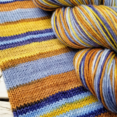 Lando - Galactic Battle -must match set - Must Stash self striping sock yarn fun colorful knitting large skein twin matching double