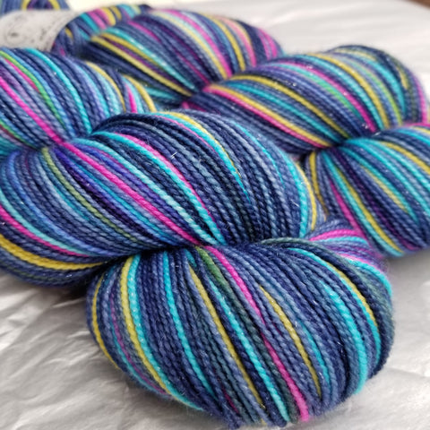 Cassiopeia A -ritz must match set - Must Stash self striping sock yarn fun colorful knitting large skein twin matching double