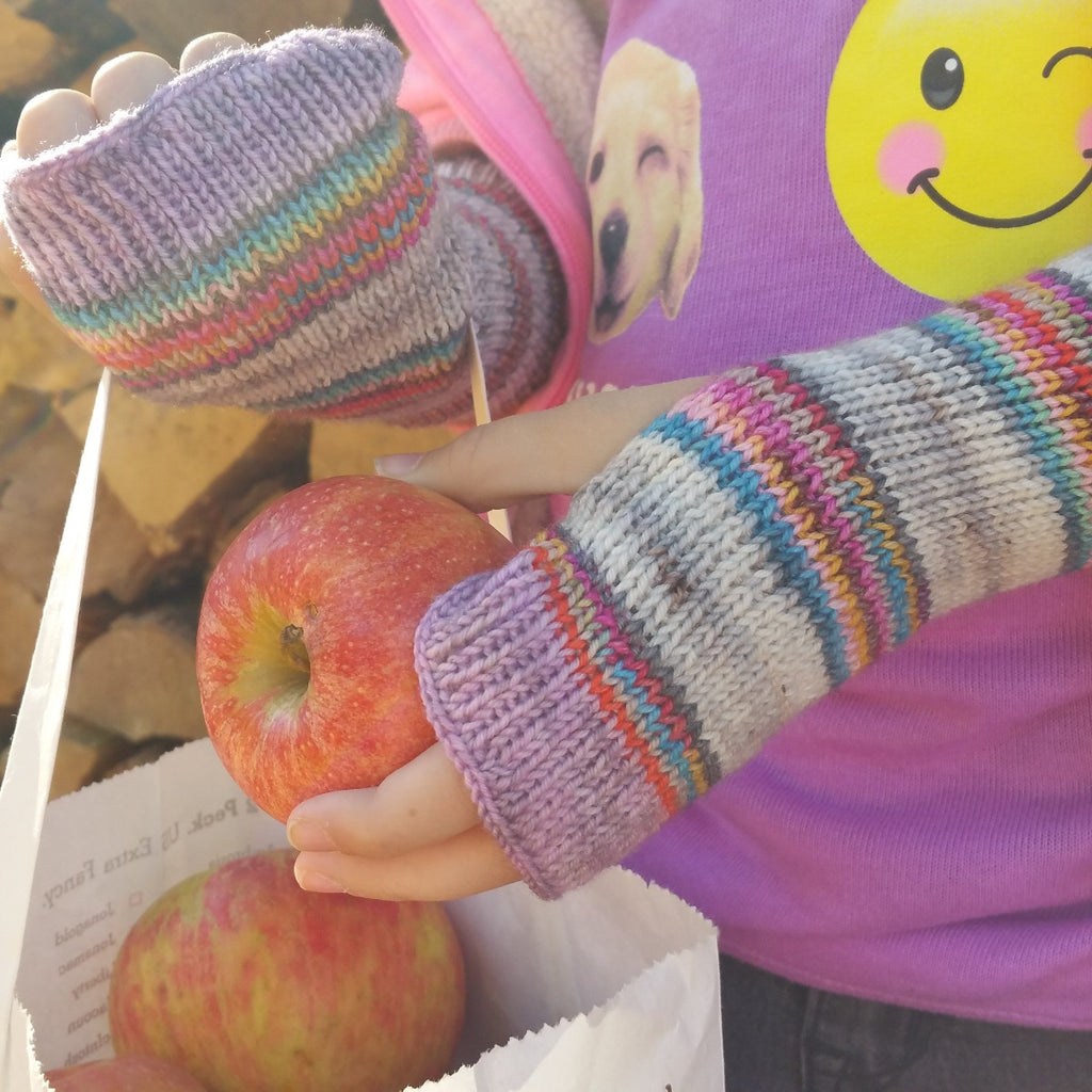 Apple Picking - Sport -must match sock - Must Stash self striping sock yarn fun colorful knitting large skein twin matching double