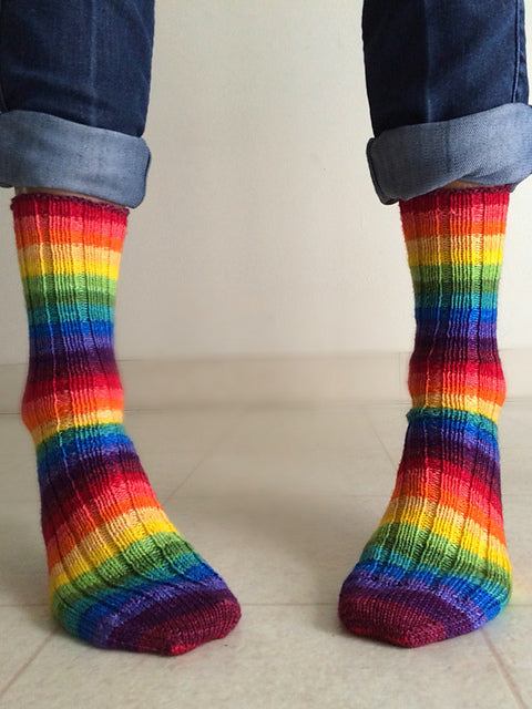 Martian Rainbow -must match sock