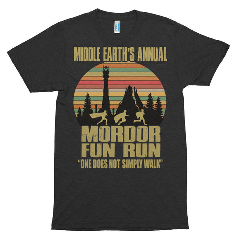 Mordor Fun Run Short sleeve soft t-shirt - Must Stash self striping sock yarn fun colorful knitting large skein twin matching double
