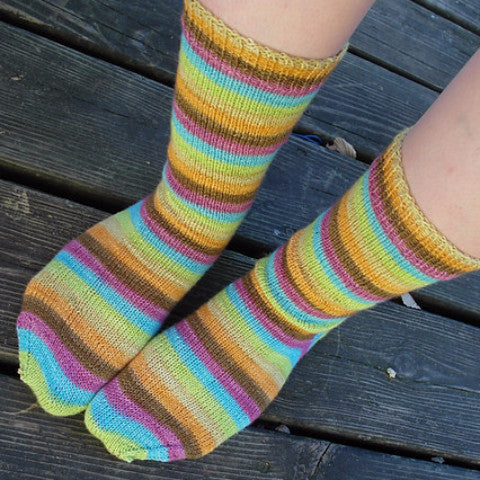 Retro Rainbow -perfect must match set - Must Stash self striping sock yarn fun colorful knitting large skein twin matching double