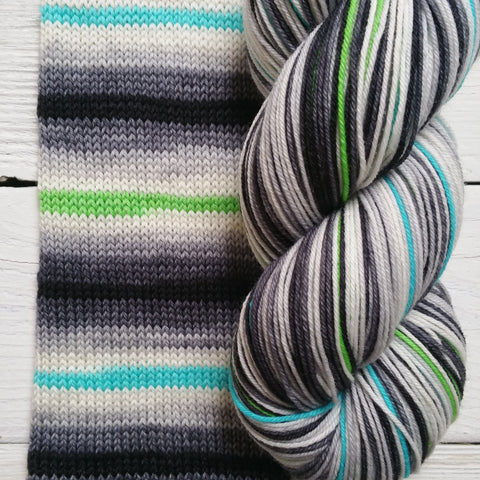 Luke - Galactic Battle -must match set - Must Stash self striping sock yarn fun colorful knitting large skein twin matching double