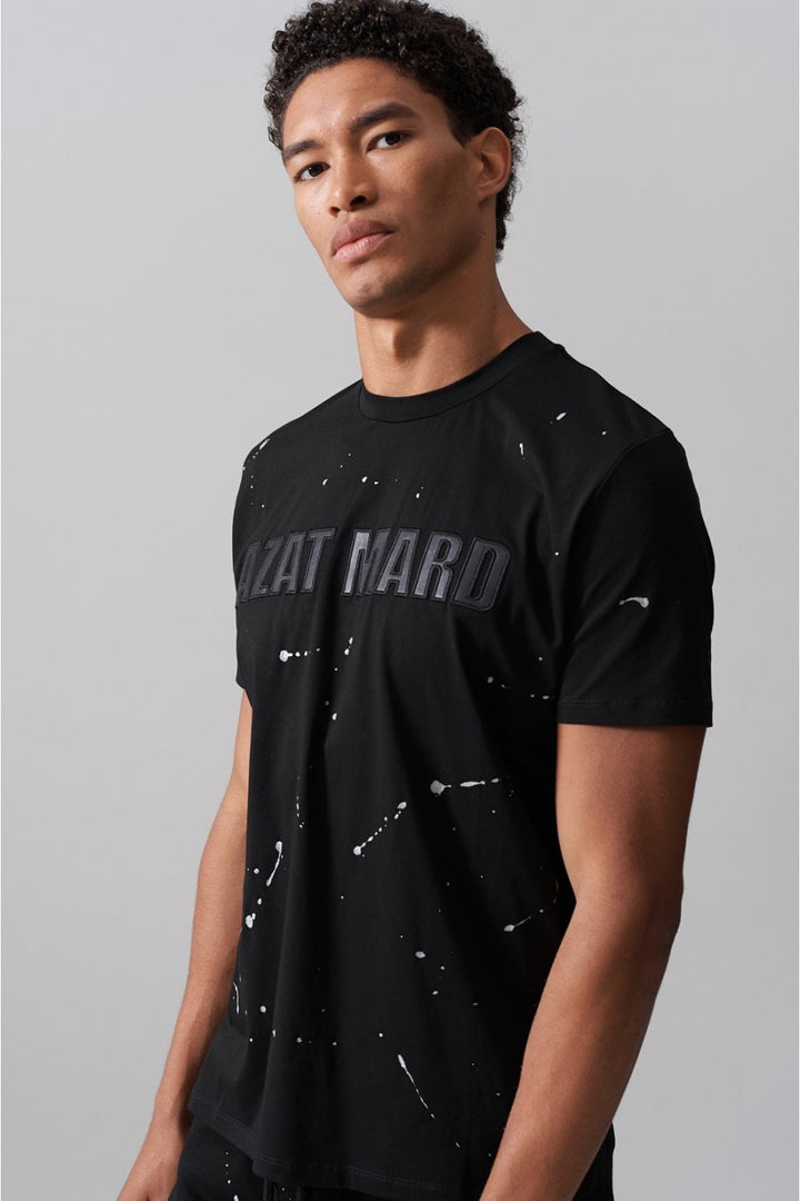 Azat Mard S/S PAINT SPLAT TEE Black