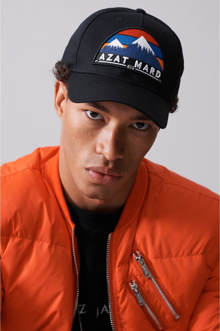 Azat Mard BASEBALL CAP LOGO Black / Orange