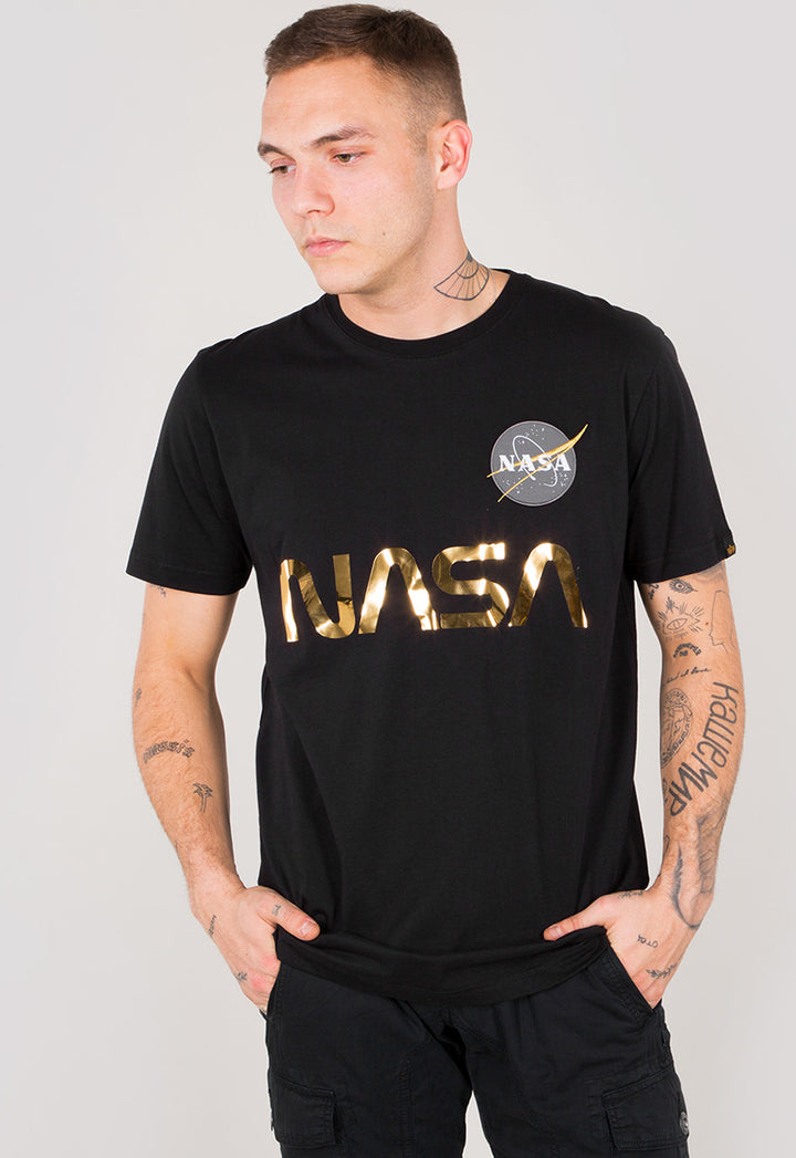 Alpha Industries S/S NASA REFLECTIVE TEE 09 Black / Gold