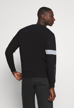 Alpha Industries REFLECTIVE STRIPE SWEATER Black