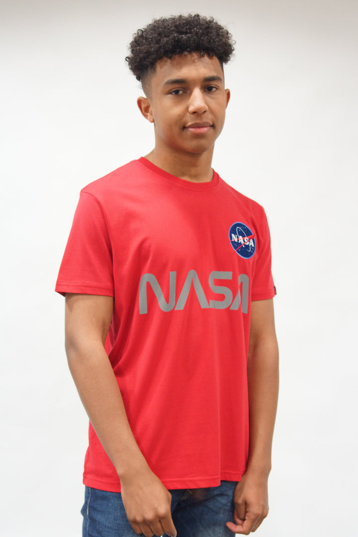 Alpha Industries S/S B-NASA REFLECTIVE TEE Red
