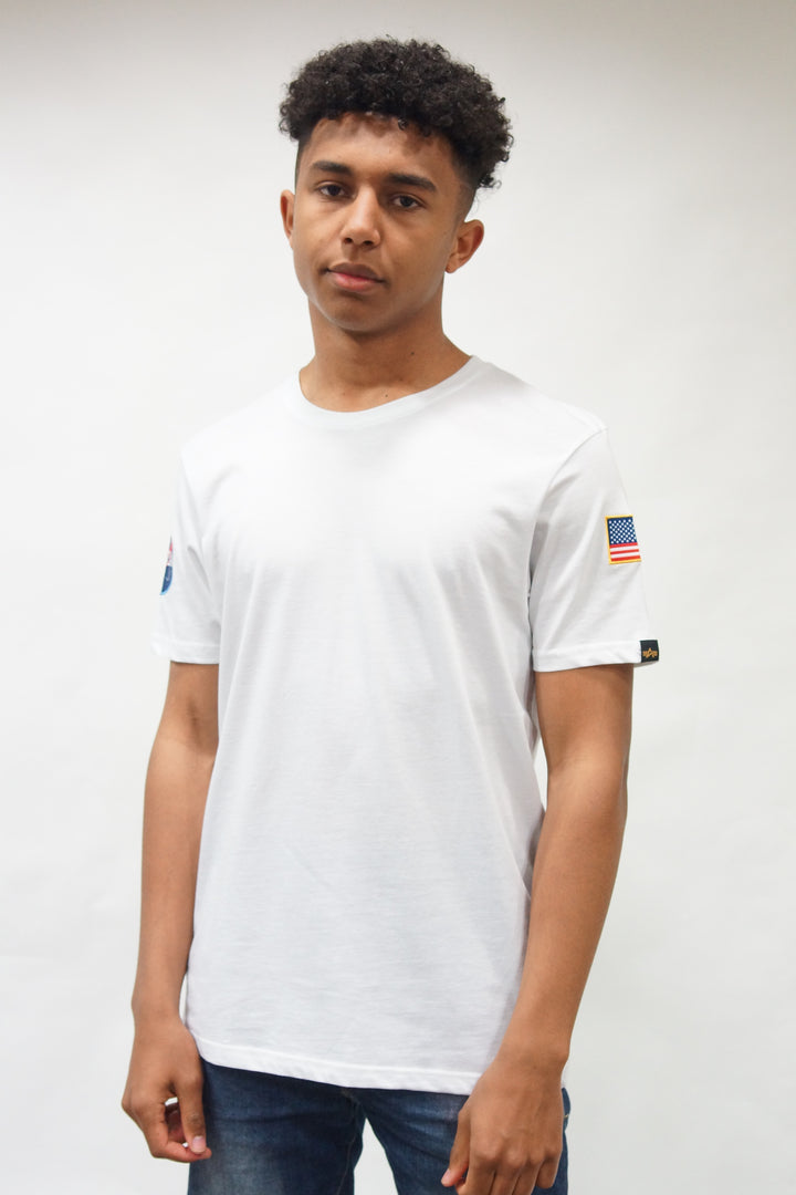Alpha Industries S/S NASA TEE White