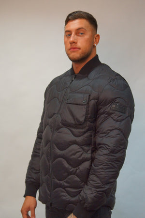 Barbour B. INTL SYNON QUILT JACKET Black