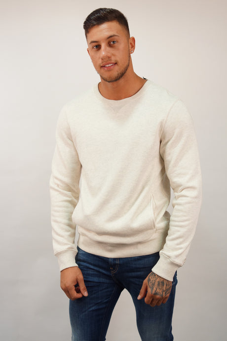 Scotch & Soda BLAUW CREW NECK SWEAT Ecru