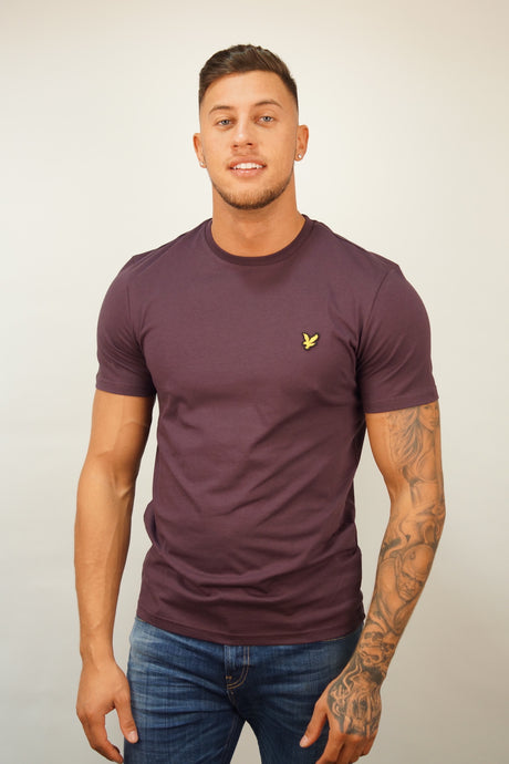 Lyle & Scott S/S Crew Neck Tee Plum