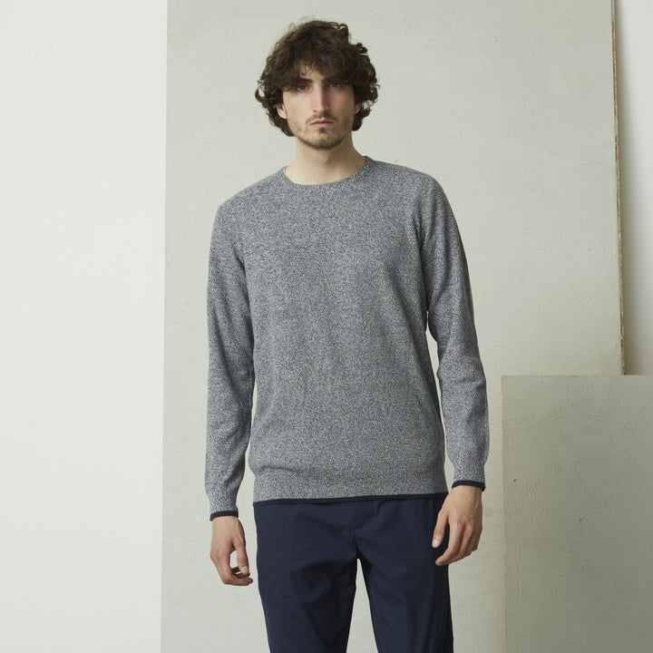 SUIT DILAN CREW KNIT JUMPER Navy