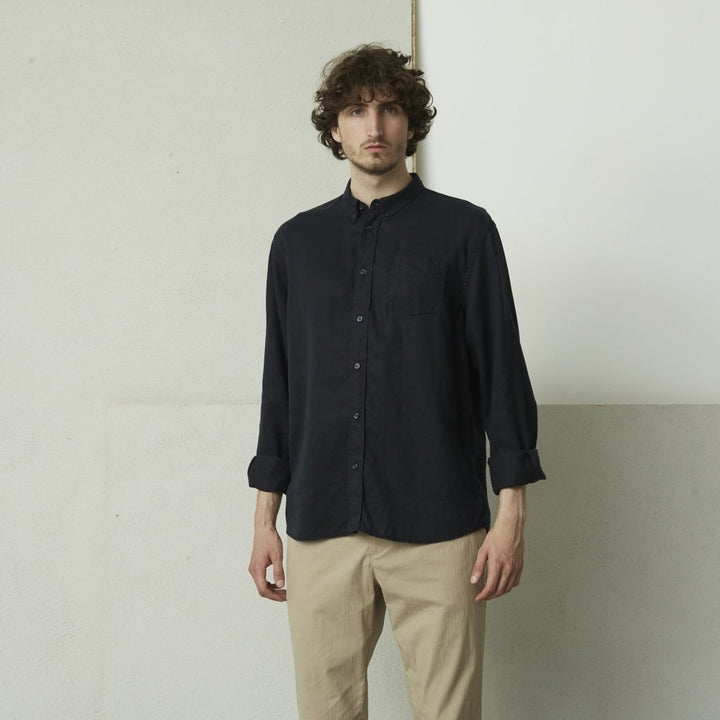 SUIT L/S EKKO OXFORD SHIRT Navy