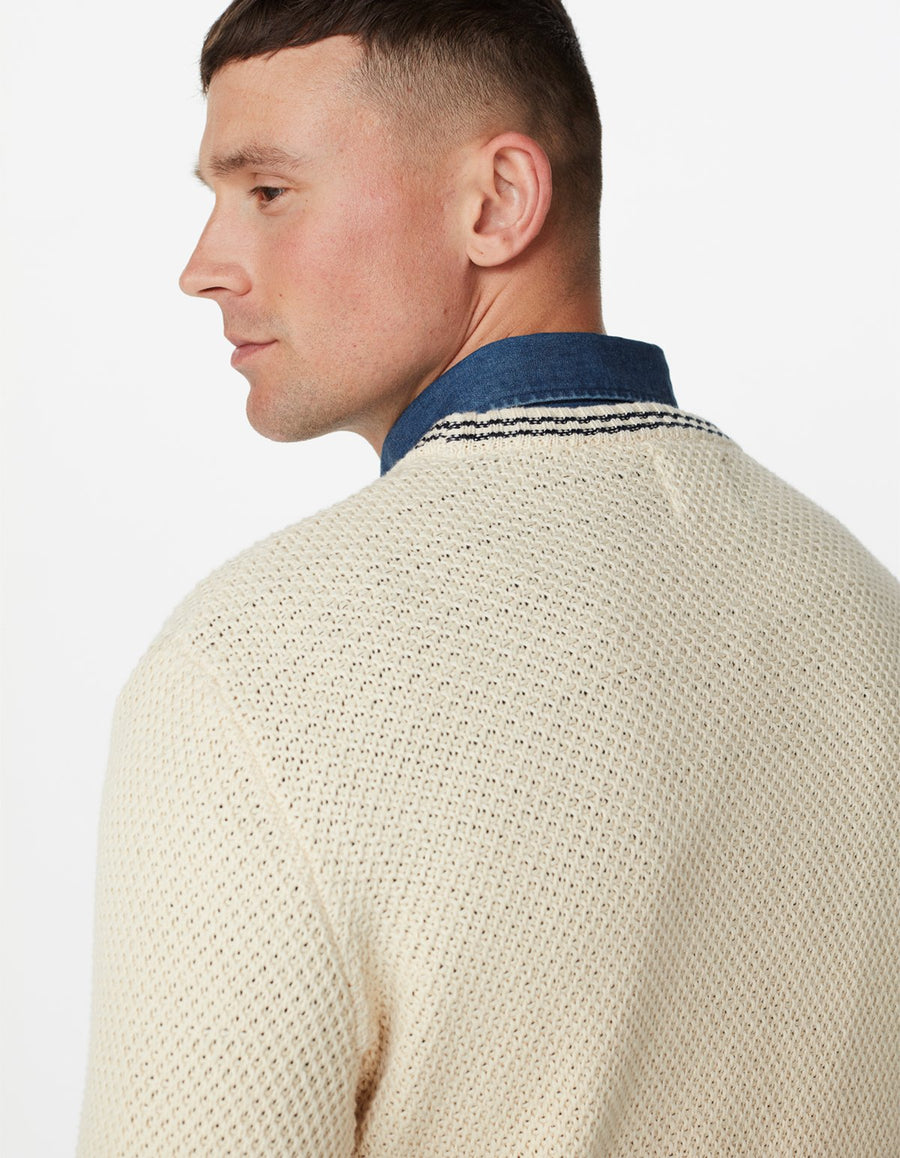 LES DEUX FRANKLIN KNIT JUMPER Off White