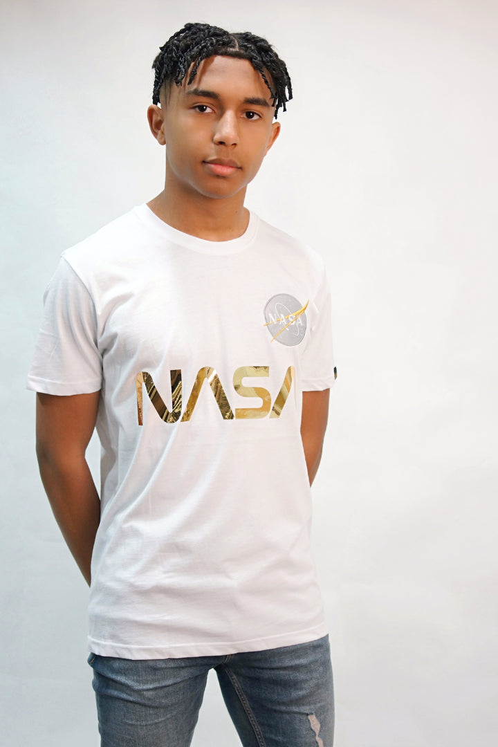 Alpha Industries S/S B-NASA REFLECTIVE TEE White