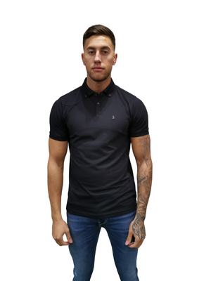Luke 1977 EMBROIDED LION POLO TEE Black