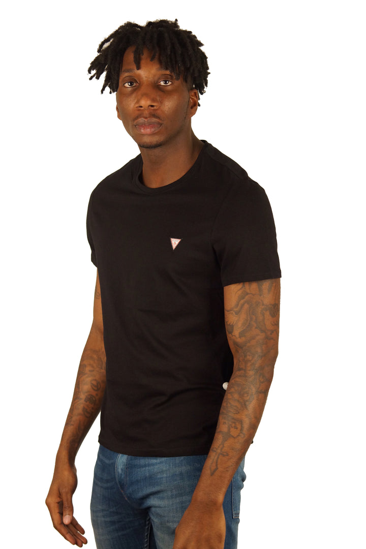 GUESS S/S Chest Logo Tee Black