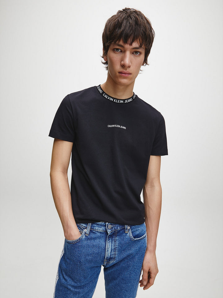 CALVIN KLEIN S/S INSTITUTIONAL COLLAR TEE Black