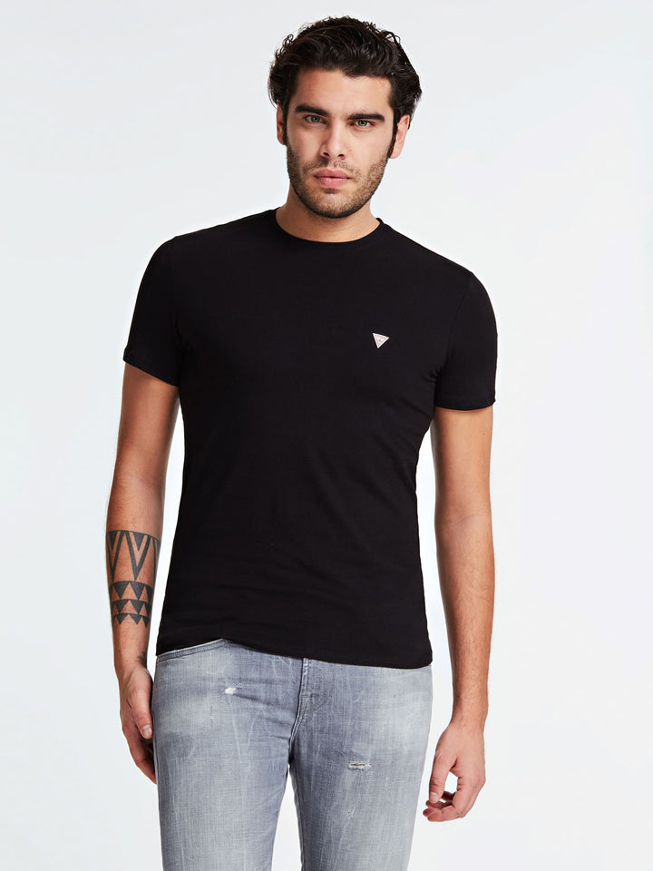 GUESS S/S 100 CORE TEE Black