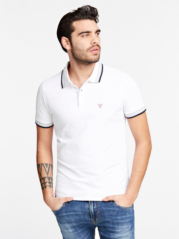 GUESS S/S GRADY POLO TEE White