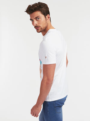 GUESS S/S WATERLINE TEE White