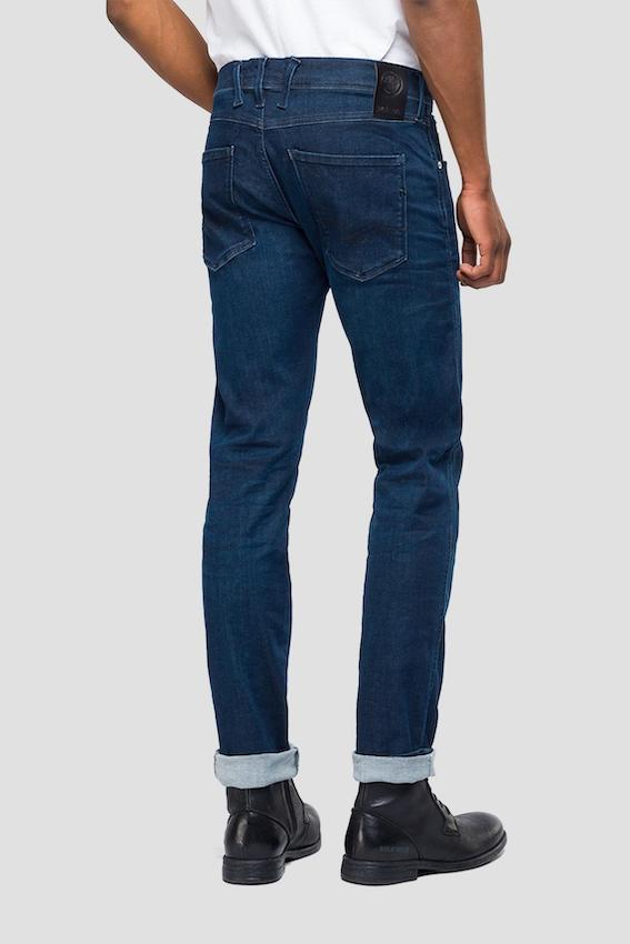Replay Jeans ANBASS HYPERFLEX PLAIN JEANS Dark Blue
