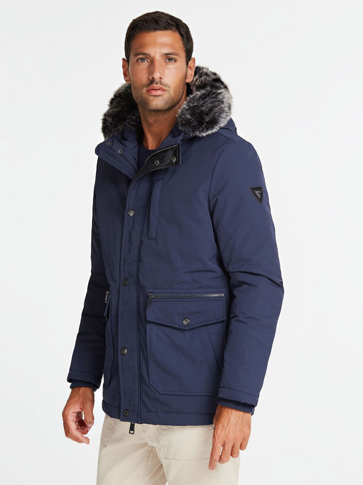 GUESS MIDLENGTH DOWN JACKET Navy