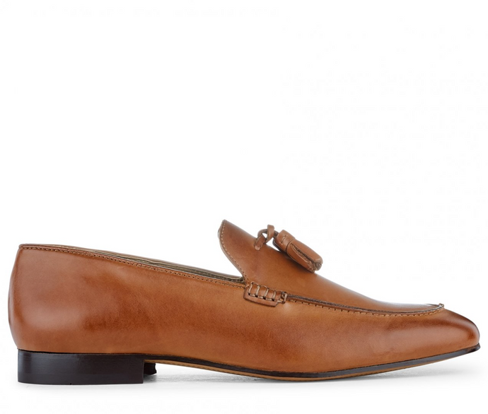 Hudson Shoes BOLTON TASSLE LOAFER Tan