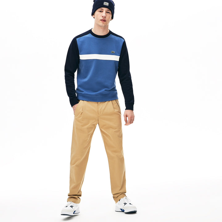 Lacoste STRIPE BLOCK SWEATER Navy
