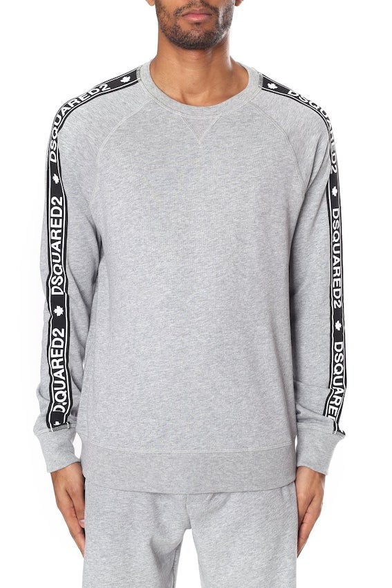 Dsquard2 TAPE DETAIL SWEATER Grey