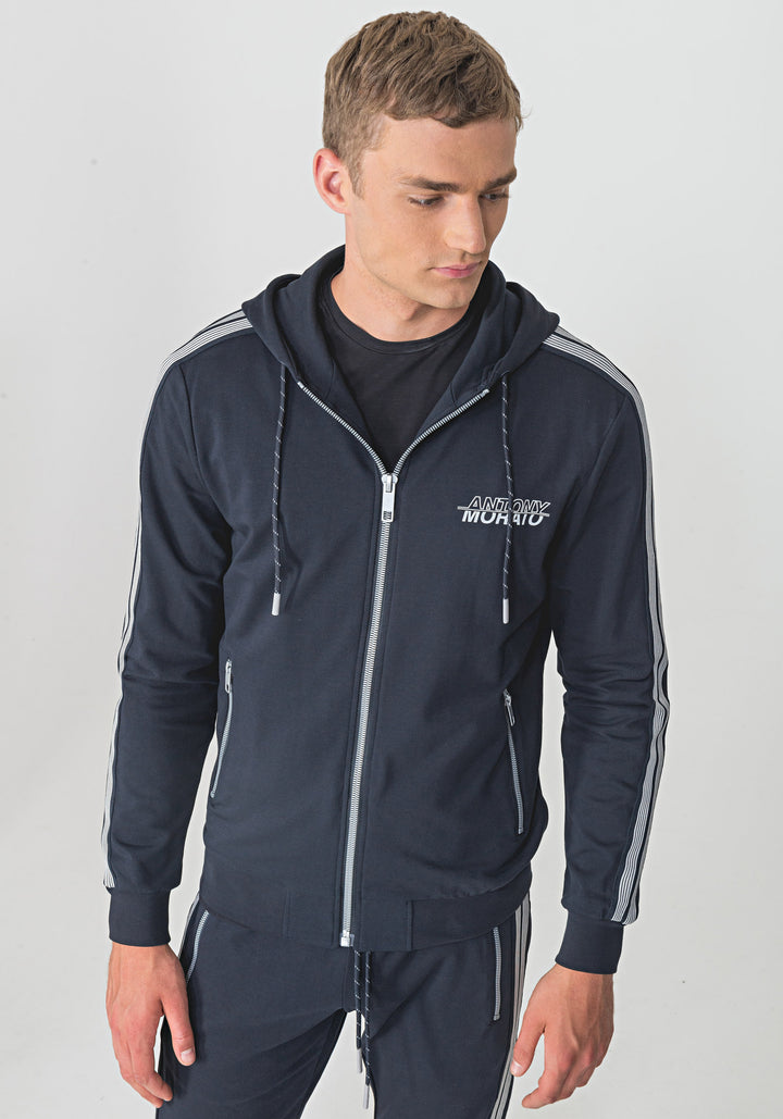 Antony Morato STRIPE TAPE DETAIL HOODY Navy