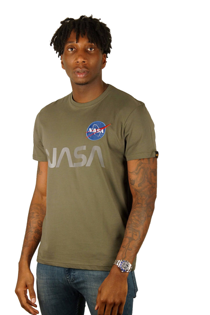 Alpha Industries S/S B-NASA REFLECTIVE TEE Olive