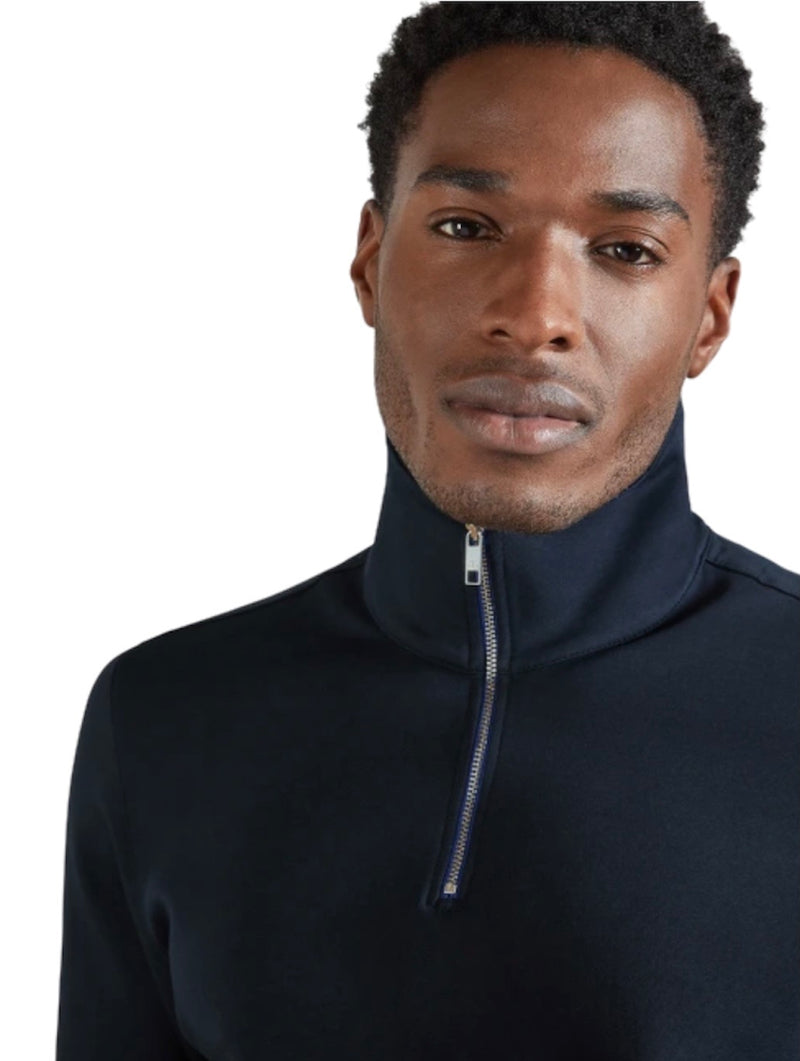 Ted Baker AYFIVE ZIP UP FUNNEL NECK Navy