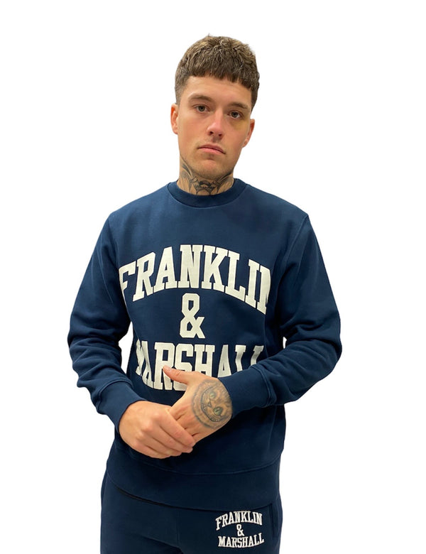 Franklin & Marshall CLASSIC LOGO SWEATER Navy