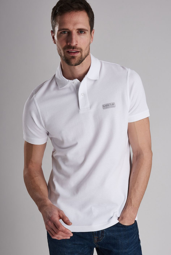 Barbour S/S B. INTL POLO SHIRT White