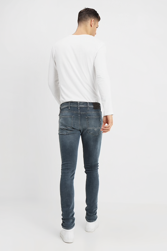 Replay Jeans JONDRILL OVERDYED BLU/BLK JEANS Light Blue