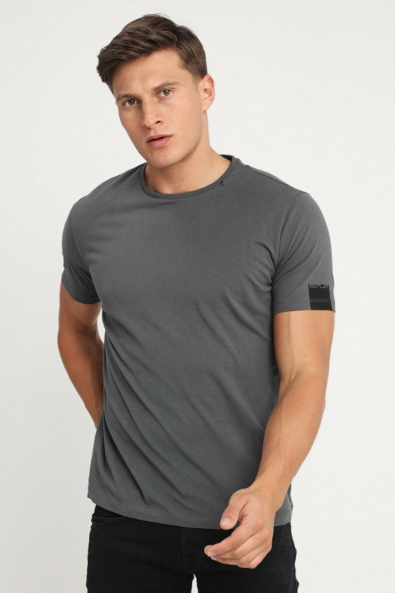 Replay Jeans S/S PLAIN TEE Dark Grey