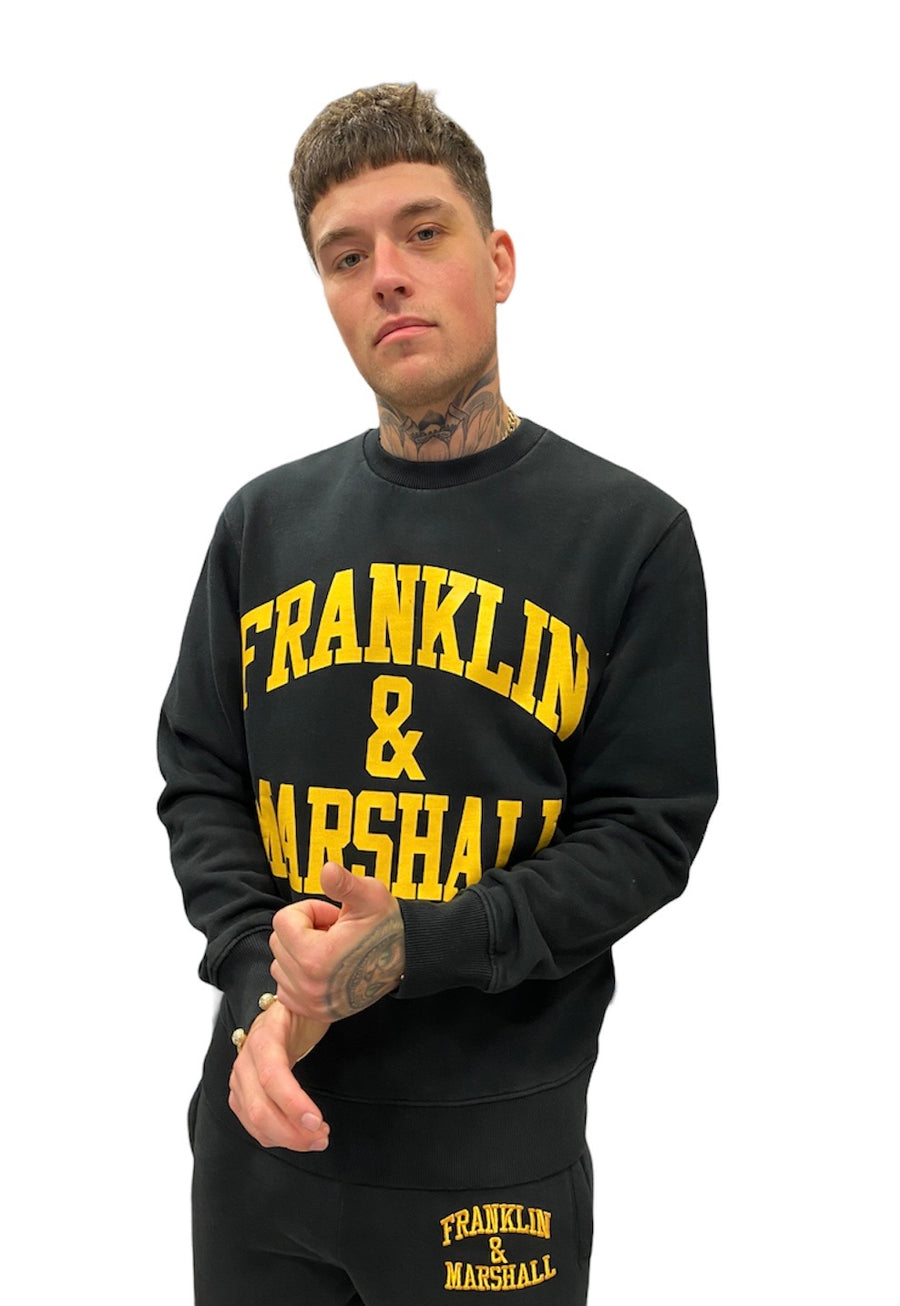Franklin & Marshall CLASSIC LOGO SWEATER Black