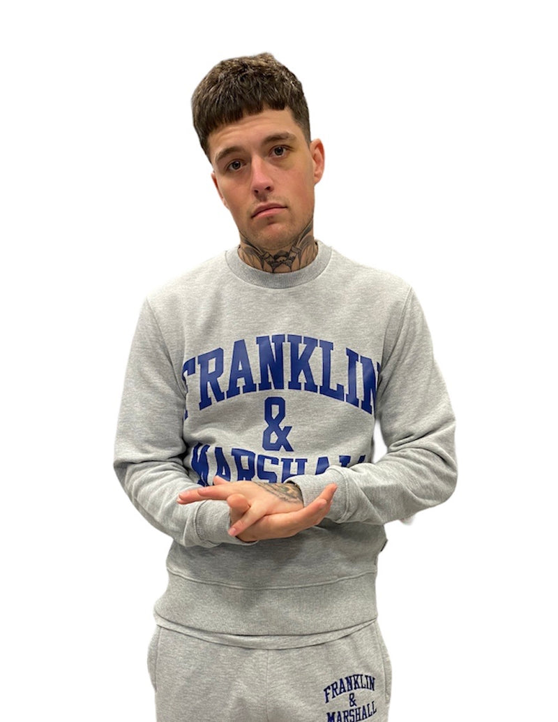 Franklin & Marshall CLASSIC LOGO SWEATER Grey