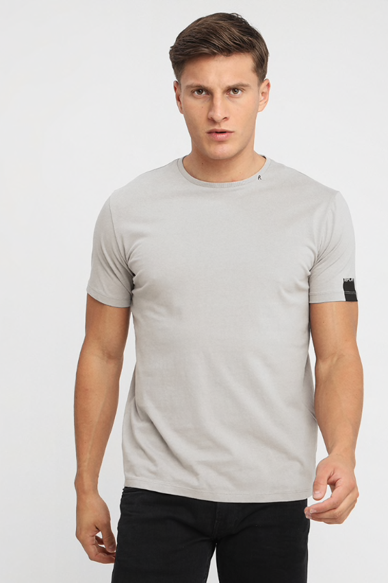 Replay Jeans S/S PLAIN TEE Light Grey