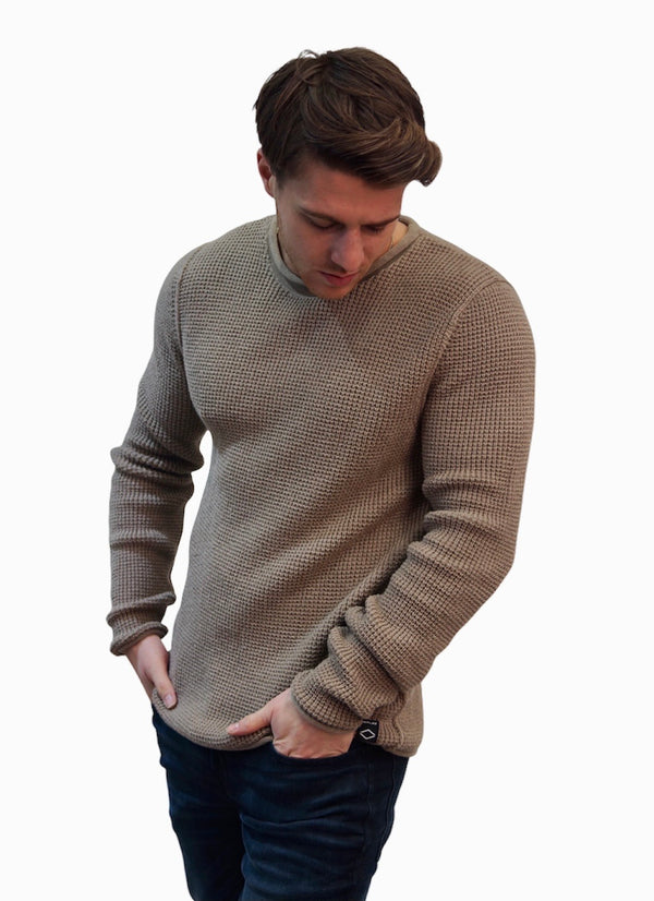 REPLAY HYPERFLEX THICK KNIT JUMPER Sand