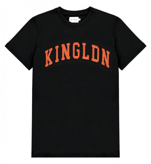KING APPAREL BLACKWALL T-SHIRT BLK / ORG