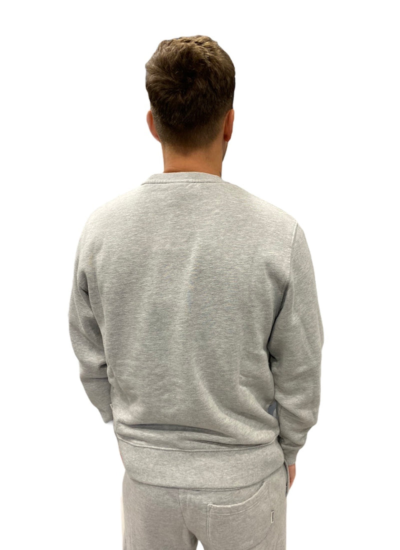 Franklin & Marshall SMALL LOGO SWEATER Grey