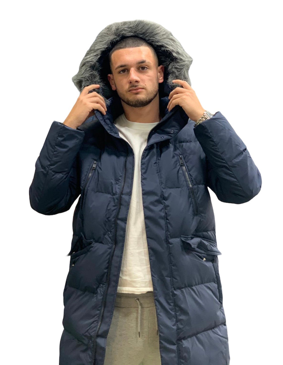 GUESS LONG PUFFA JACKET G720 Navy