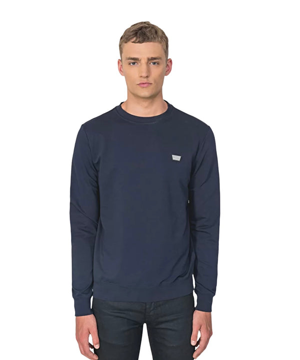 Antony Morato CREW NECK PLAQUE SWEATER Blue