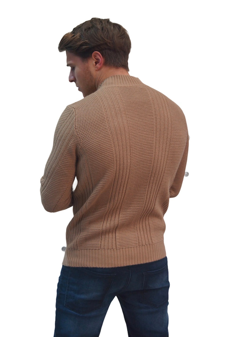 SSEINSE CABLE HIGH NECK JUMPER Camel
