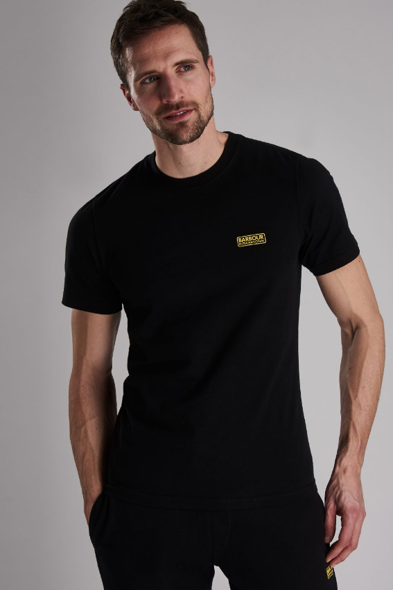 Barbour S/S B. INTL SMALL LOGO TEE Black