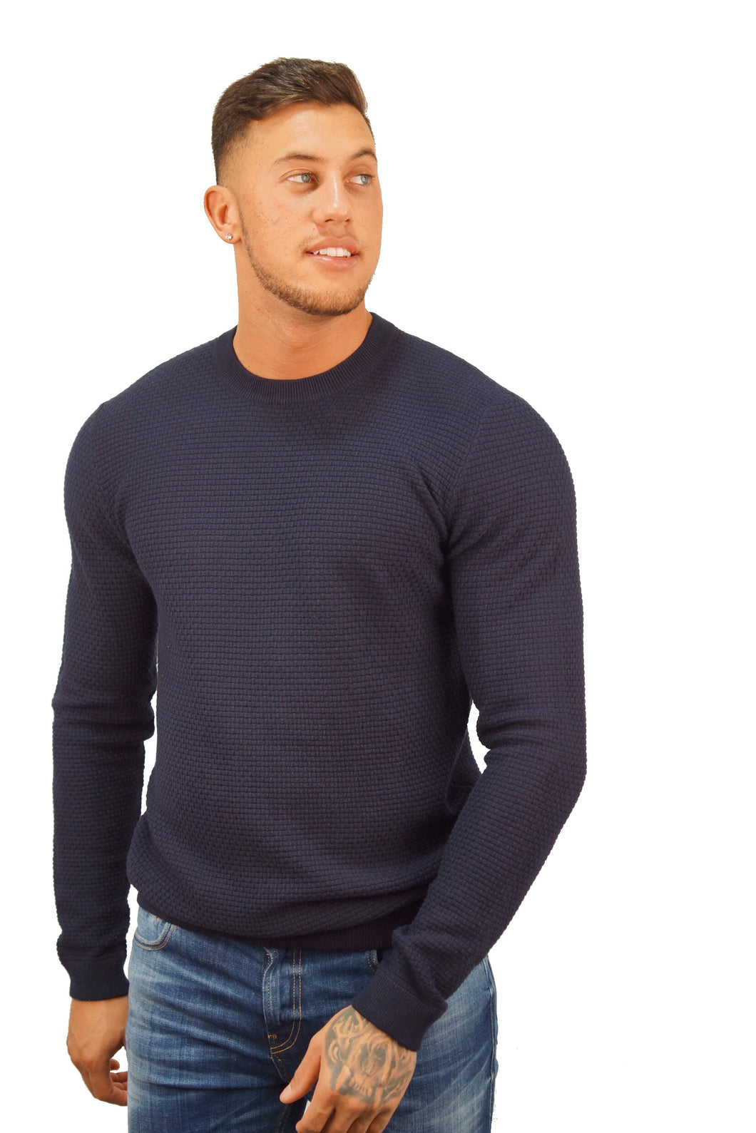 Ted Baker PERCYPI TEXTURED KNIT Navy
