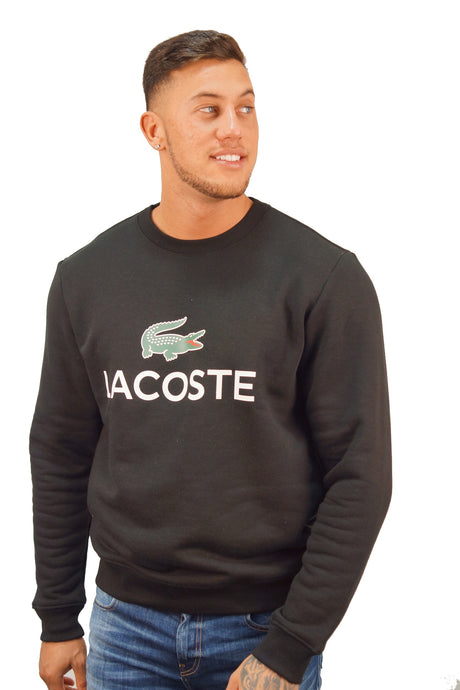 Lacoste LOGO BRANDED SWEATER Black